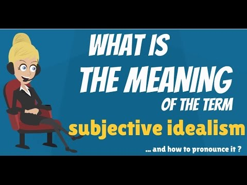 What does the term subjective mean?