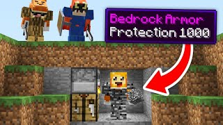 minecraft manhunt but you can CRAFT ARMOR out of any BLOCKS