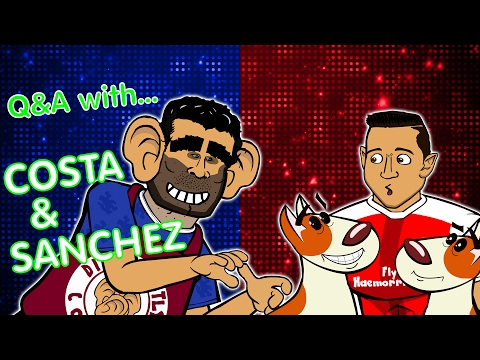 Q&A with COSTA & SANCHEZ! (Parody - Chelsea vs Arsenal 2017 preview)