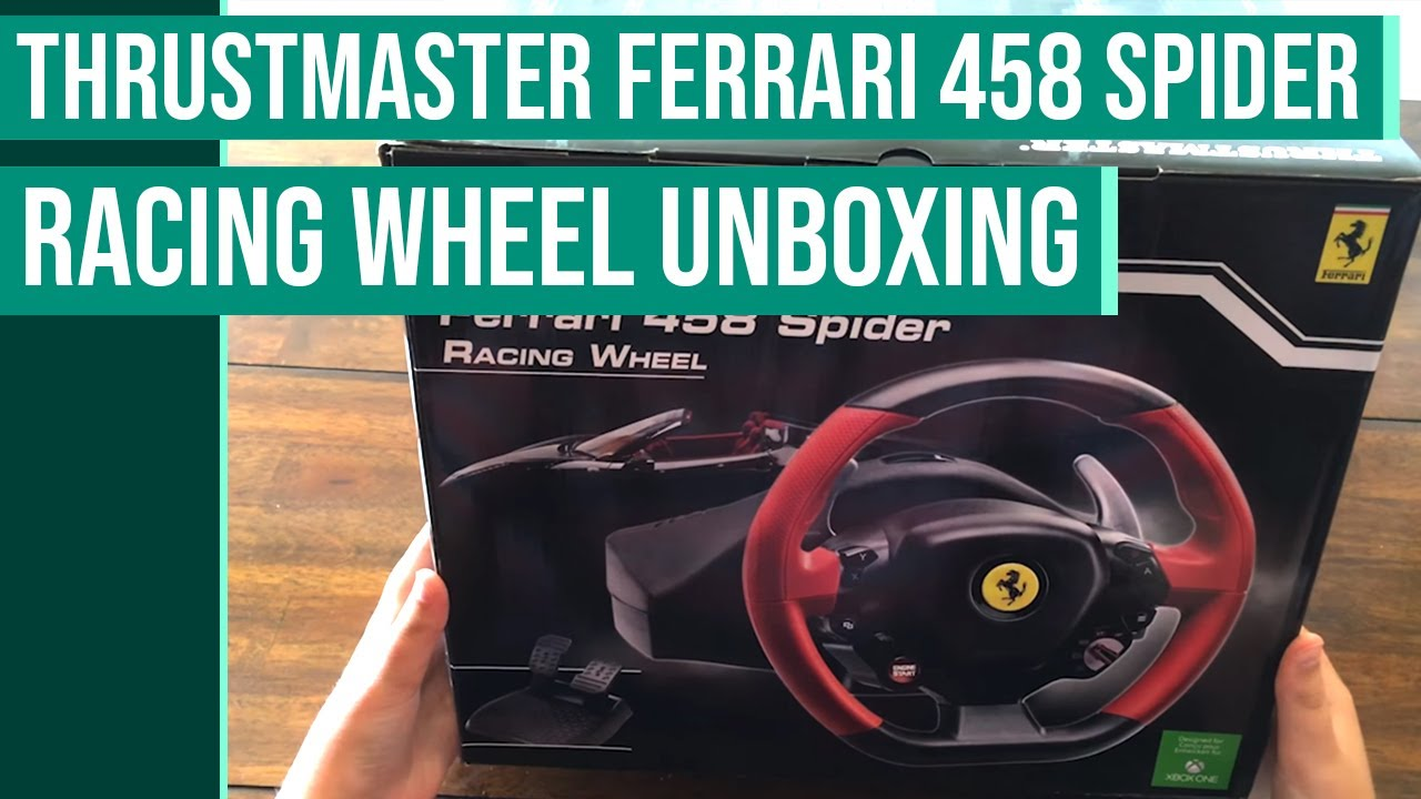 unboxing the thrustmaster ferrari 458 spider racing wheel. Black Bedroom Furniture Sets. Home Design Ideas