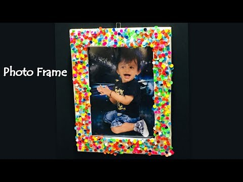 PHOTO FRAME from Paper | Handmade Photo Frame making | Home Decoration Ideas.
