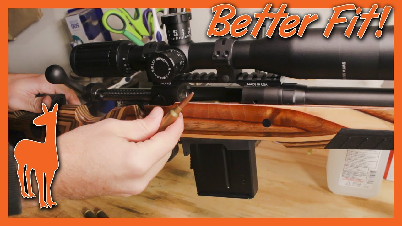 Setting the Perfect Inlet Depth for the Accurate Mag Bottom Metal - Mile  Rifle Pt 9