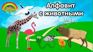 Скачать Алфавит с животными Как говорят животные Слушаем звуки Учим буквы