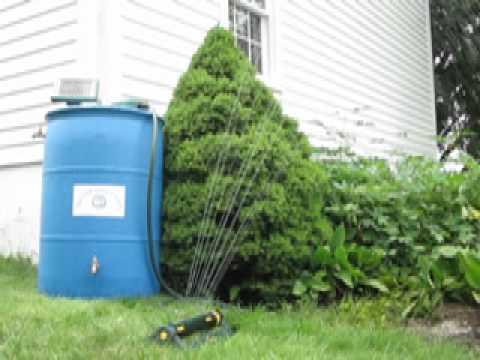 Photos Of Rain Barrel Water Pump Solar