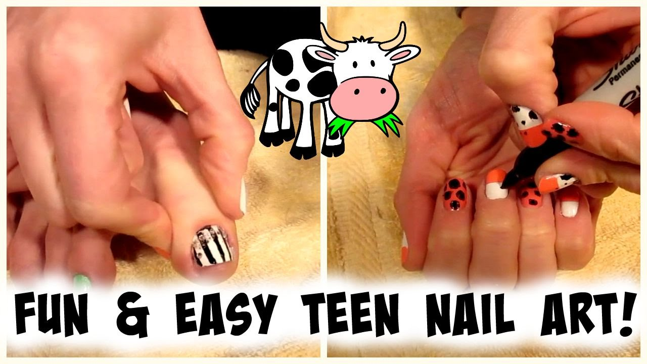 FUN and EASY TEEN NAIL ART! | Nicole Collet - YouTube