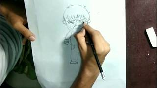 How to draw chibi Dean Ambrose step by step