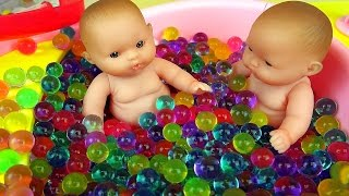 Baby Doll bath toy and Surprise eggs play