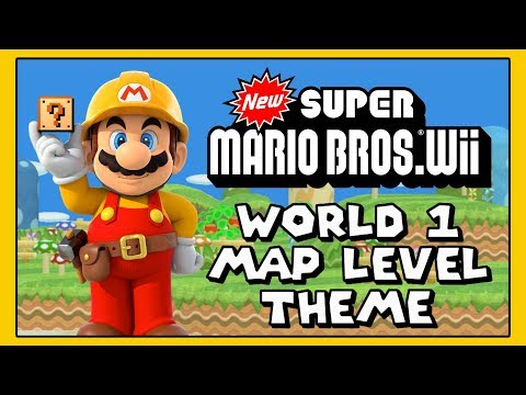 New Super Mario Bros Wii World 1 Map Level Theme for Super Mario Maker Mods