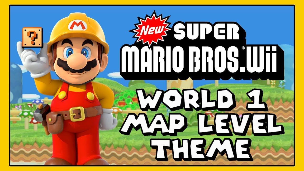 New Super Mario Bros Wii World 1 Map Level Theme For Super Mario