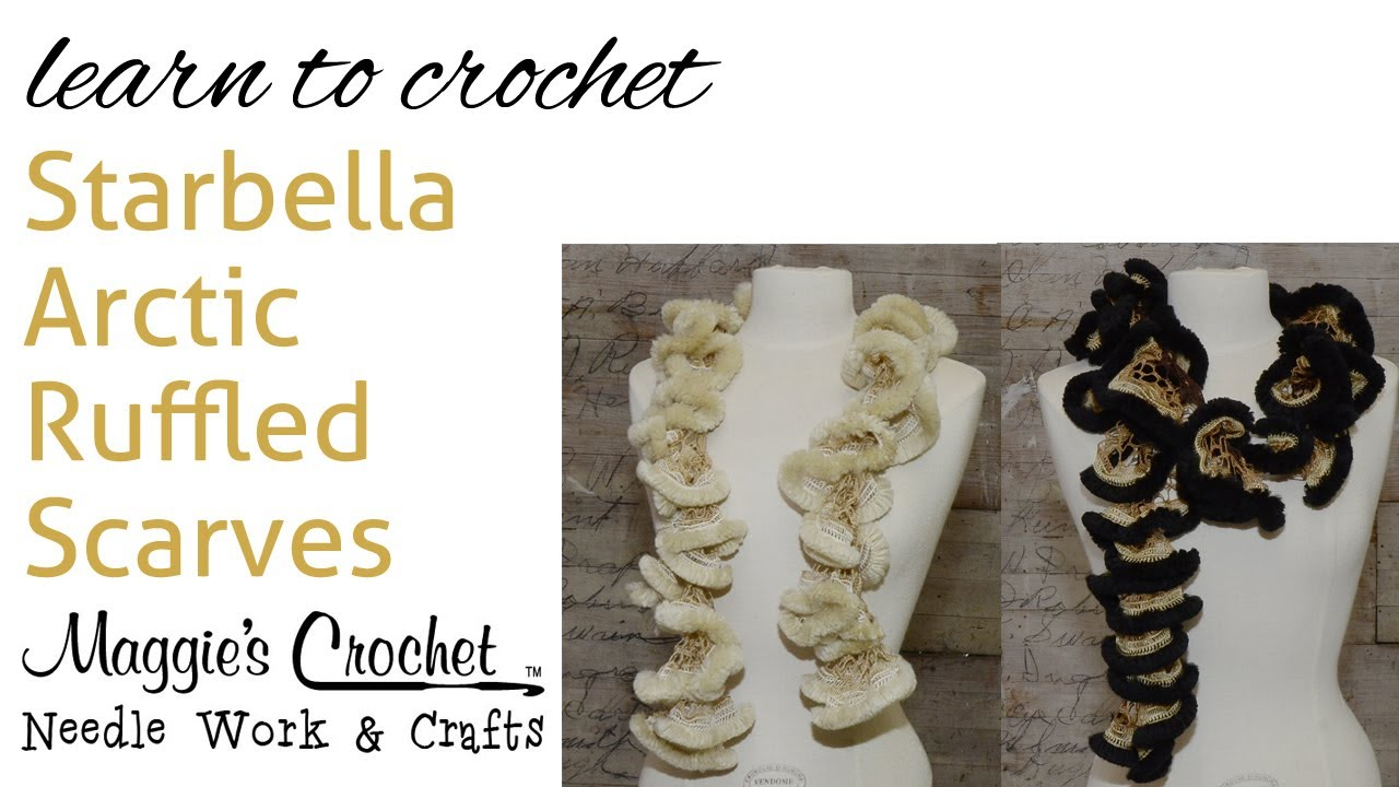 Easy crochet starbella arctic ruffled scarf right handed youtube easy crochet starbella arctic ruffled scarf right handed dt1010fo