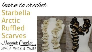 Repeat youtube video Easy Crochet Starbella Arctic Ruffled Scarf  Right Handed