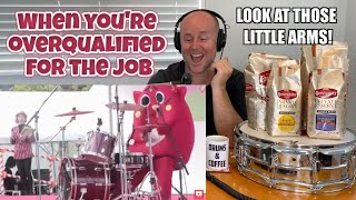 Drum Teacher Reacts: Drummer Smashed by Cross - Worship Fail   When you're overqualified for the job