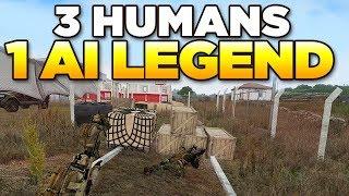 3 HUMANS vs 1 AI LEGEND | ARMA 3 Moments