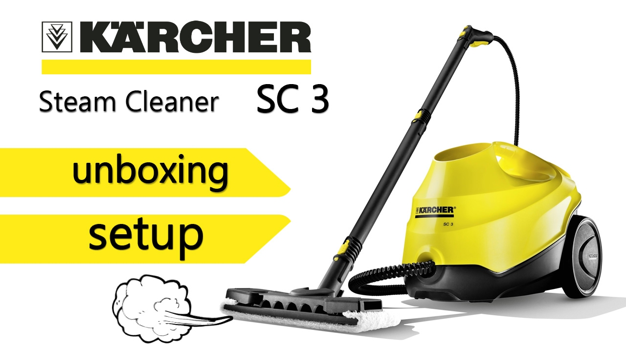 karcher sc3 steam cleaner unboxing setup no chemicals youtube. Black Bedroom Furniture Sets. Home Design Ideas