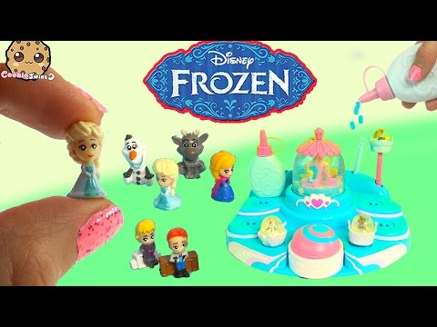 Disney Frozen Glitzi Globes Queen Elsa's Ballroom Water Playset Toy Maker + Display Cookieswirlc