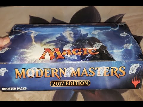 Modern Master 2017 Booster Box Opening Part 2! Some Good Pulls! Trying Something New... Thoughts?