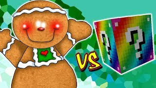 GINGERBREAD VS. LUCKY BLOCK RAINBOW (MINECRAFT LUCKY BLOCK CHALLENGE)