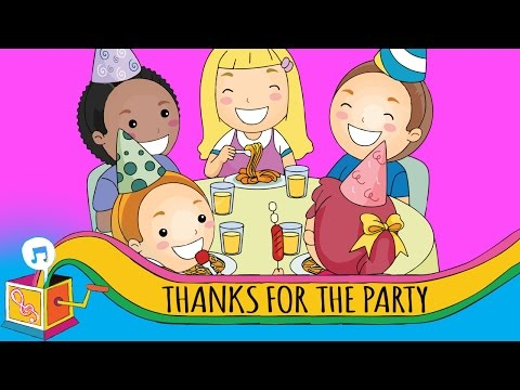 Thanks for the Party | Children's Song | Karaoke
