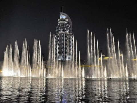 Dubai dancing fountain - Celine Dion & Andrea Bocelli - The Prayer 🎶