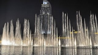 Dubai dancing fountain - Celine Dion & Andrea Bocelli - The Prayer HD