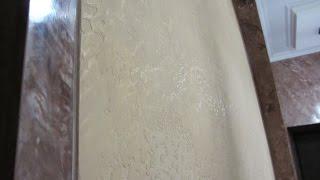 Декоративная венецианская штукатурка в отделке для коридора. Имитация мрамора.(В этом видео представлены две декоративные штукатурки. Венецианская штукатурка