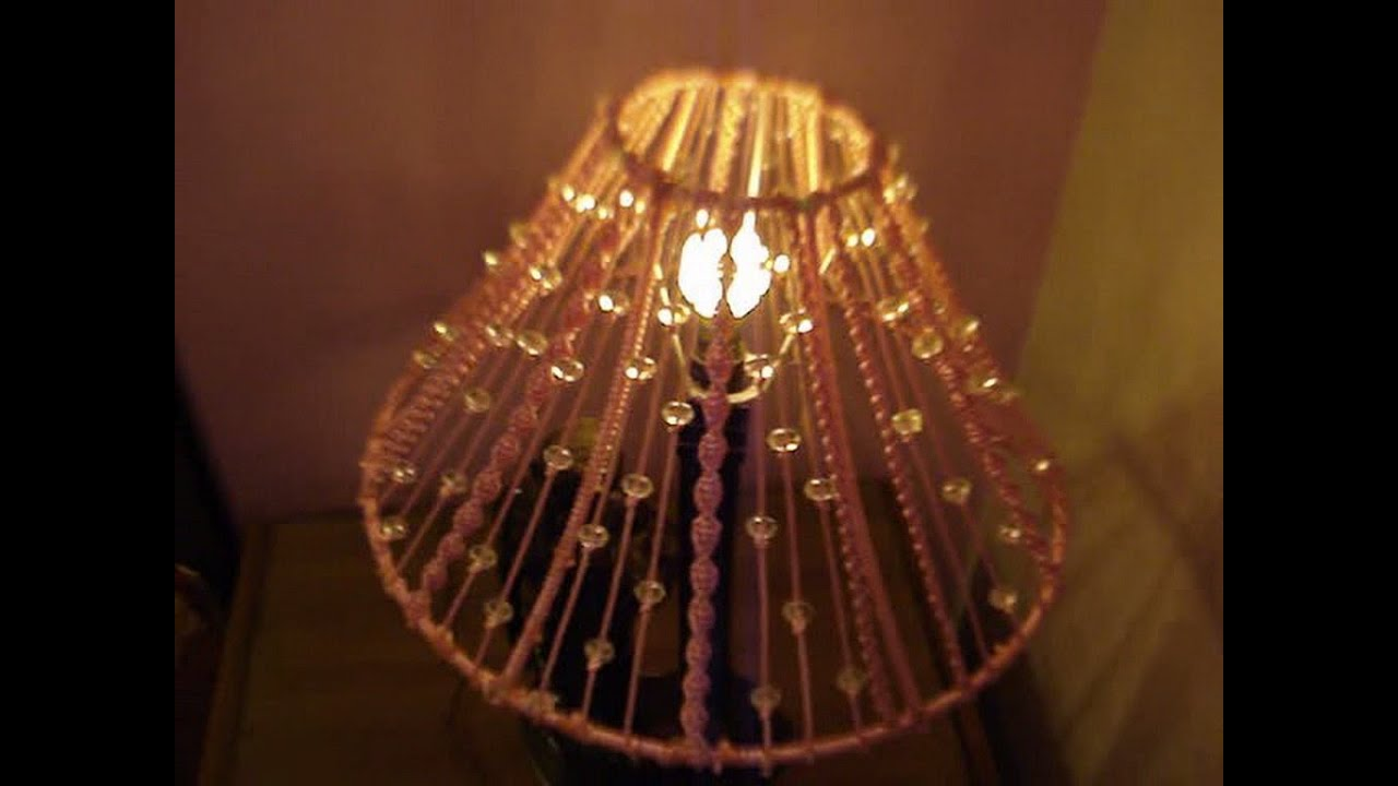 Diy how to make macrame lampshade youtube arubaitofo Gallery