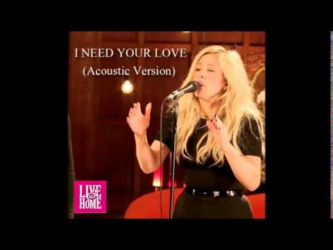 Ellie Goulding - I Need Your Love (Acoustic version) live in Live@Home