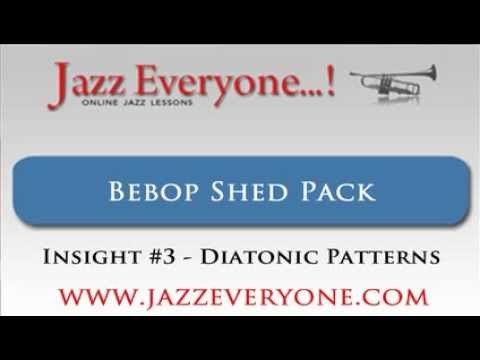 Using diatonic patterns in jazz - Bebop Shed Pack Insight #3