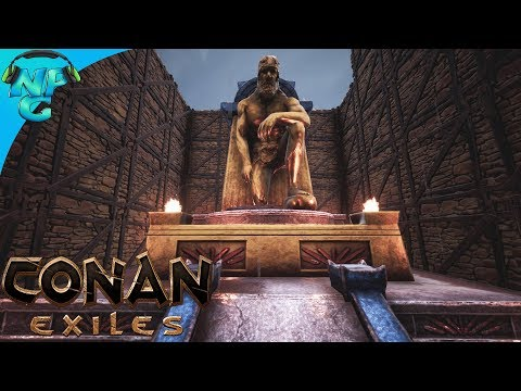 Conan Exiles - Reaching Barbarian Godhood and Adding Thralls to the Castle! E4