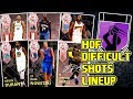 ALL HOF DIFFICULT SHOTS LINEUP SQUAD BUILDER  THIS TEAM IS GODLY  NBA 2k18 MYTEAM