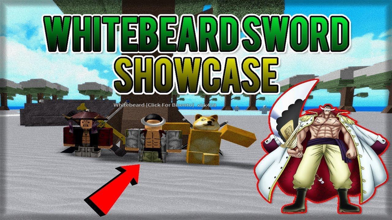 Roblox One Piece Millenium Vip Server One Piece Millenium Whitebeard Sword Bisento Showcase Youtube