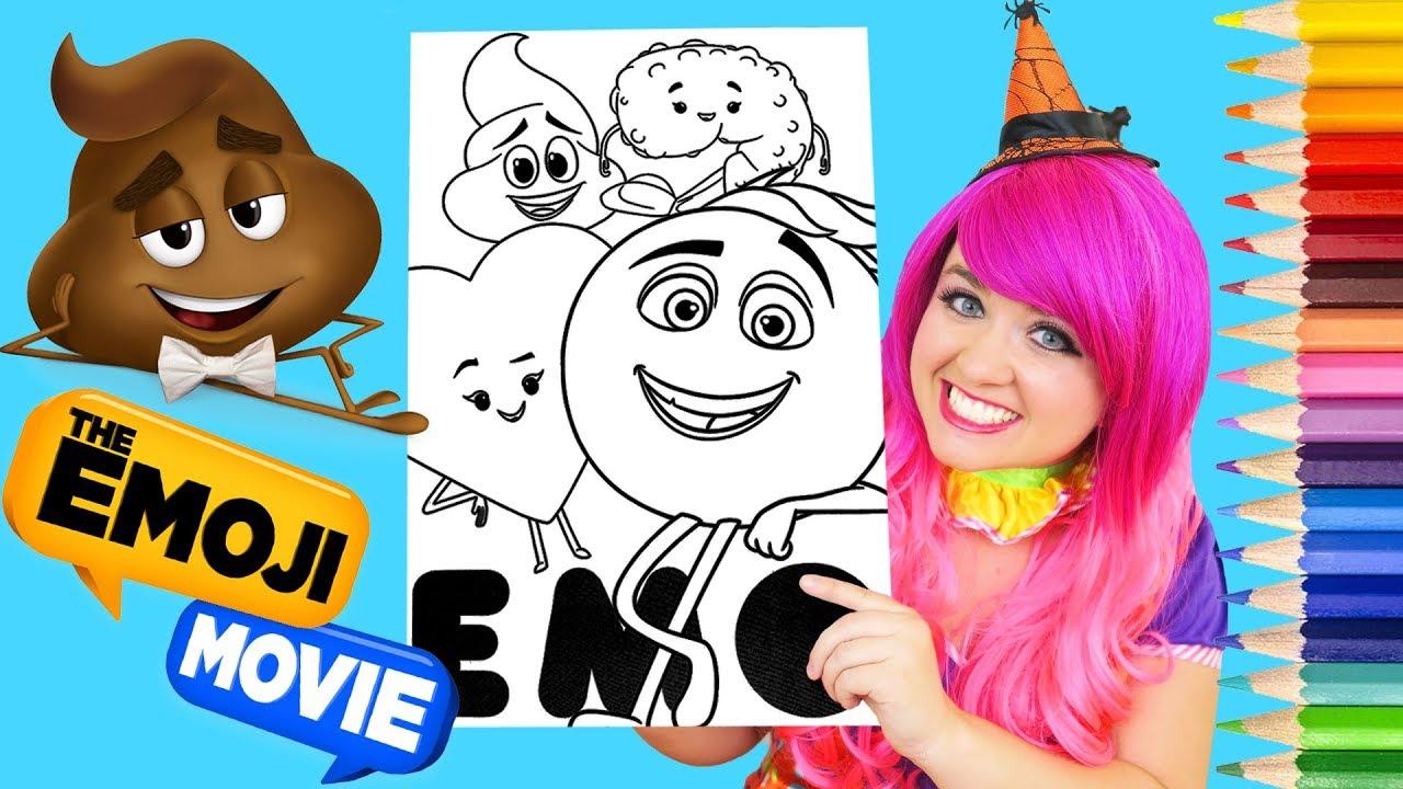 Coloring Poop Emoji The Emoji Movie Coloring Book Page