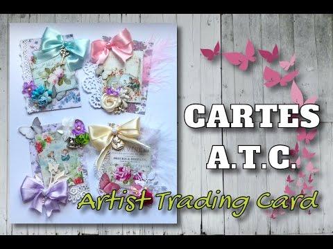 [CARTES A.T.C.] Cartes ATC Shabby avec Matériel Aliexpress et Action