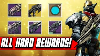 Destiny - All Hard Mode Weapons Gameplay - Crota's End Raid Reward Weapons Exotic/Legendary Upgrades
