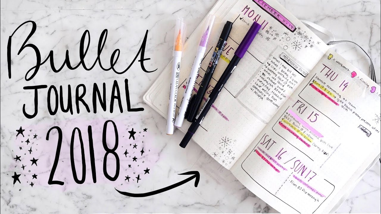 my bullet journal 2018 setup how i organize my life jamie paige youtube. Black Bedroom Furniture Sets. Home Design Ideas