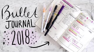 One of Jamie Paige's most viewed videos: My BULLET JOURNAL 2018 SETUP!  How I ORGANIZE My LIFE! | Jamie Paige