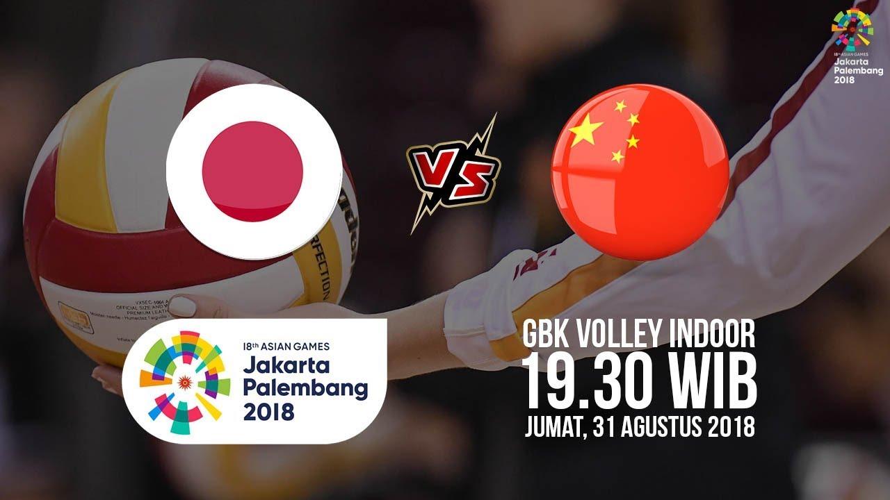 Jadwal Laga Semifinal Voli Putri Asian Games 2018 Jepang Vs Cina Pukul 19 30 WIB