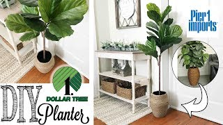 DIY Dollar Tree Planter | PIER 1 DUPE