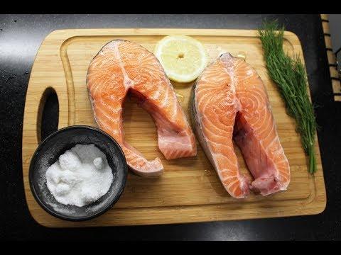 Как запечь стейк лосося