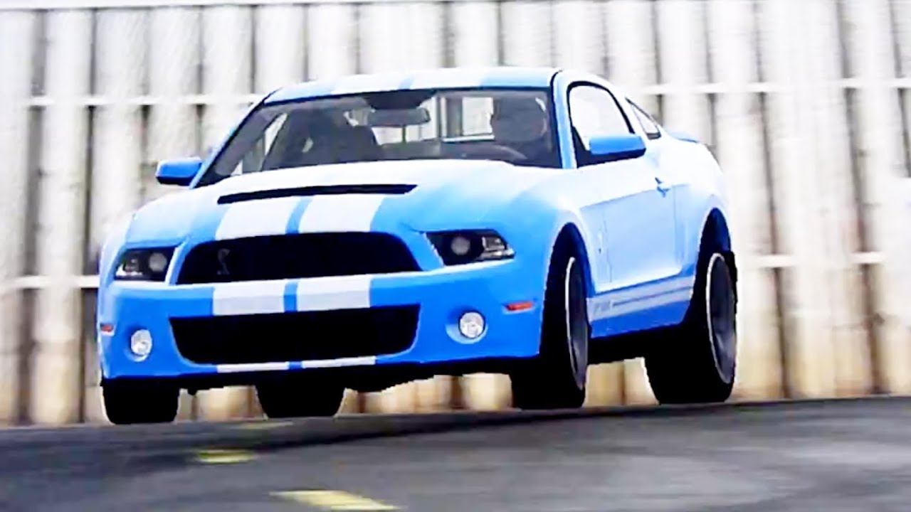 top gear ford mustang shelby gt500 around test track. Black Bedroom Furniture Sets. Home Design Ideas