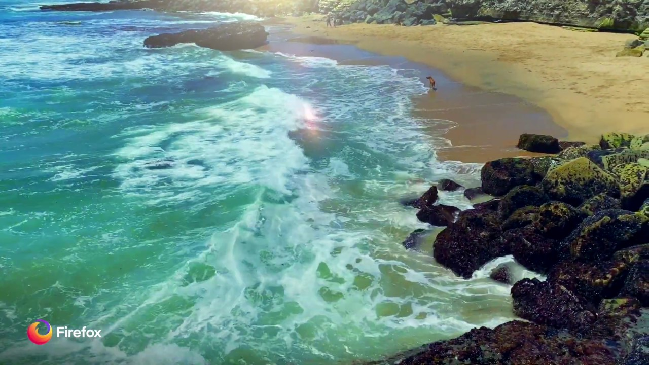 Soothing surf sounds from Firefox