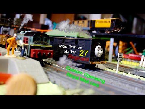 Thomas and Friends MODIFICATON STATION 27 ROYAL MAIL TRAIN, HENRIETTA, REGINALD and MORE