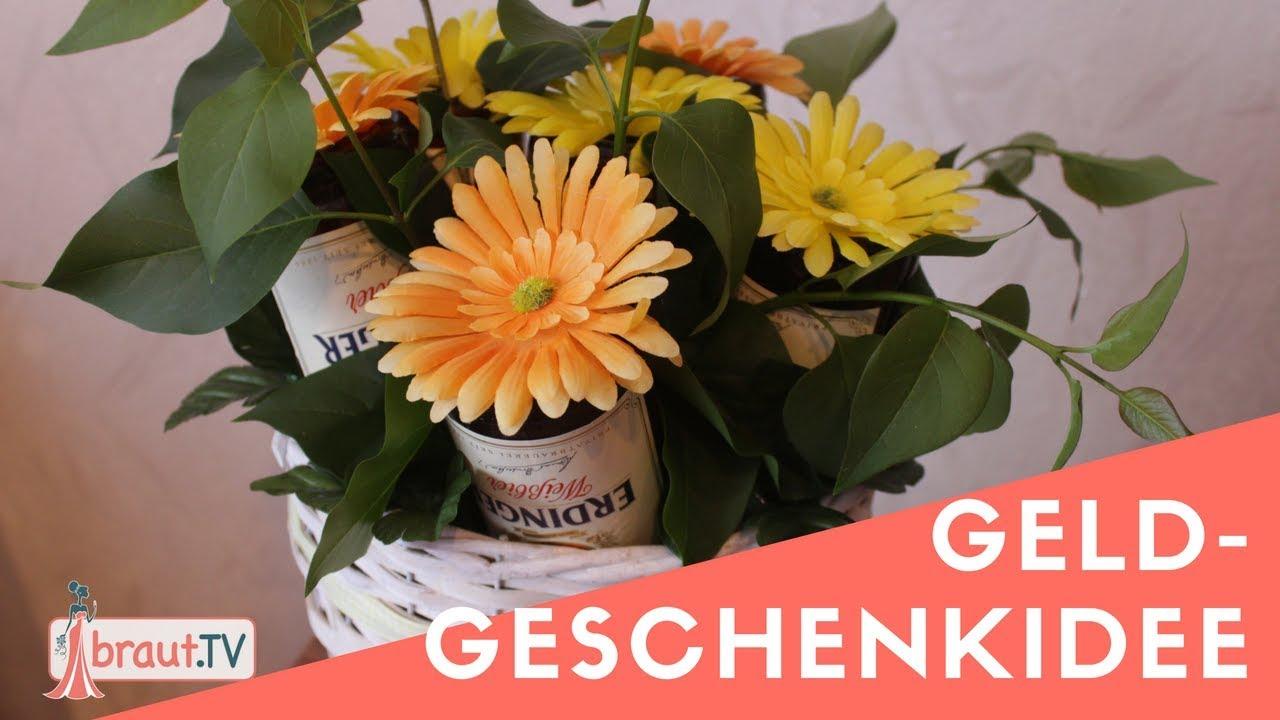 Geldgeschenk Idee Bier Blumenstrauß Brauttv Youtube