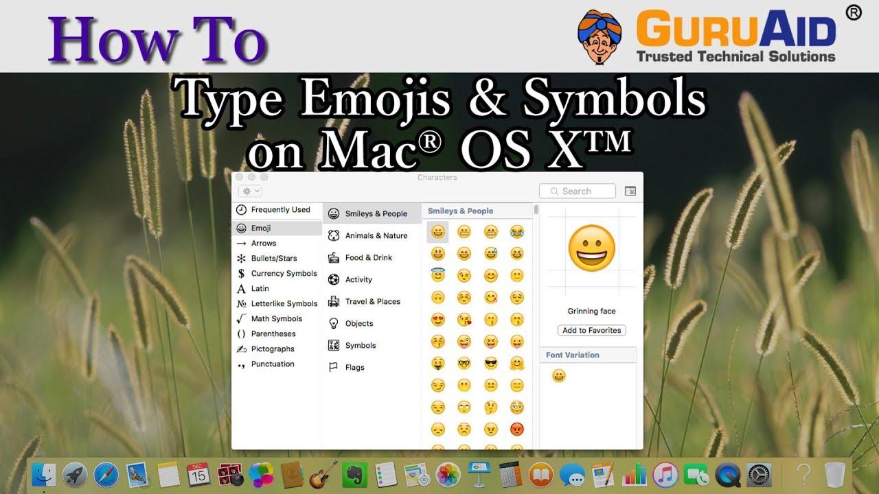 How to type emojis symbols on mac os x guruaid youtube how to type emojis symbols on mac os x guruaid biocorpaavc Choice Image