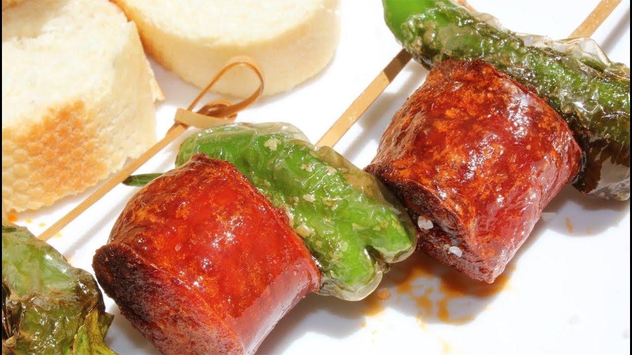 receta de pinchos de longaniza