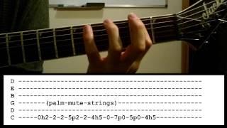 Black Veil Brides- Heart of Fire- Guitar Lesson