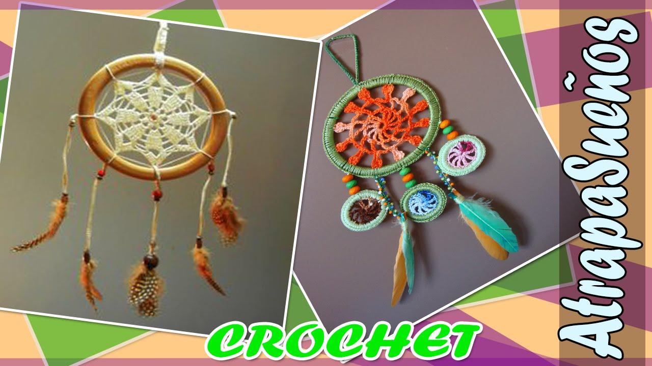 Atrapasueño - Mandala con Patrones Tejidos a Crochet - YouTube