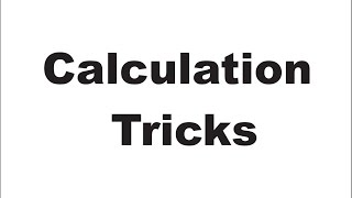 Calculation Tricks in ACCOUNTS