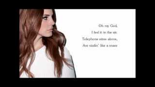 Repeat youtube video Lana Del Rey Summertime Sadness Lyrics