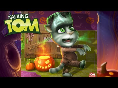My Talking Tom Gameplay - Halloween - Great Makeover 2017